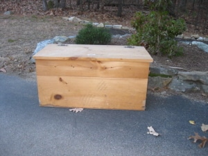 Worm composting box
