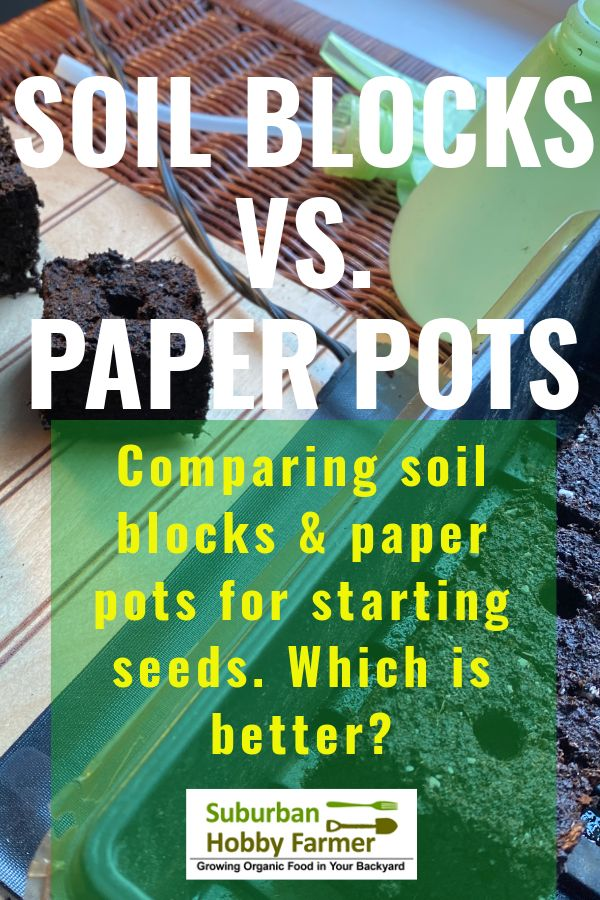 Soil Block Makers Vs. Paper Pots